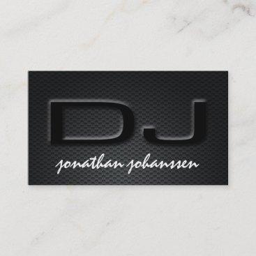 Modern Carbon Fiber Professional DJ Business Card