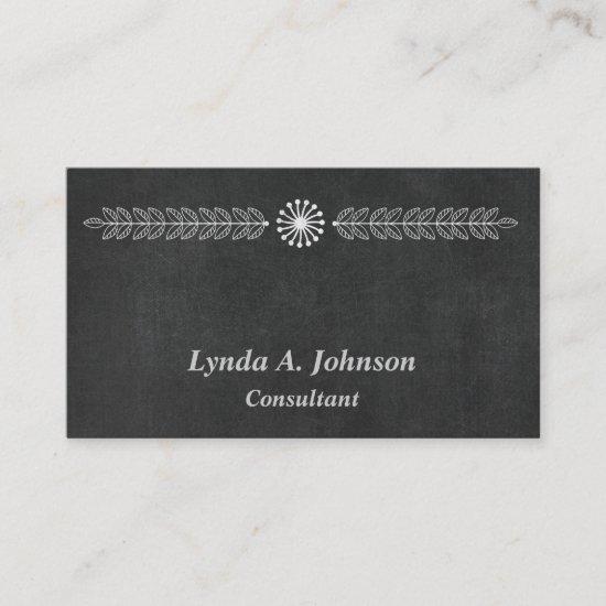 Modern Chalkboard Professional Business Card