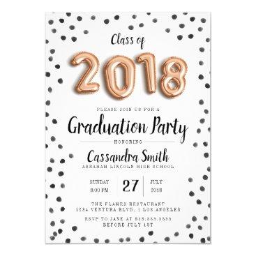 Modern Class of 2018 Balloons - Grad Invite