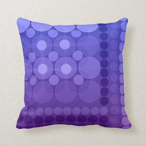 Modern Dream Bubbles Purple Cushions