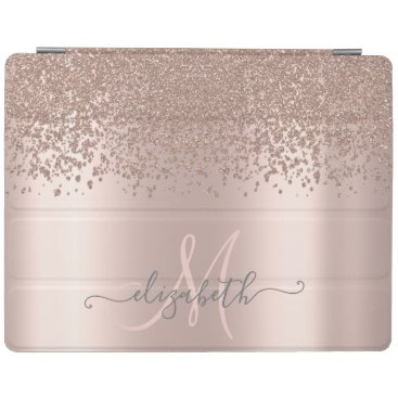 Modern Elegant Diamonds Rose Gold iPad Smart Cover