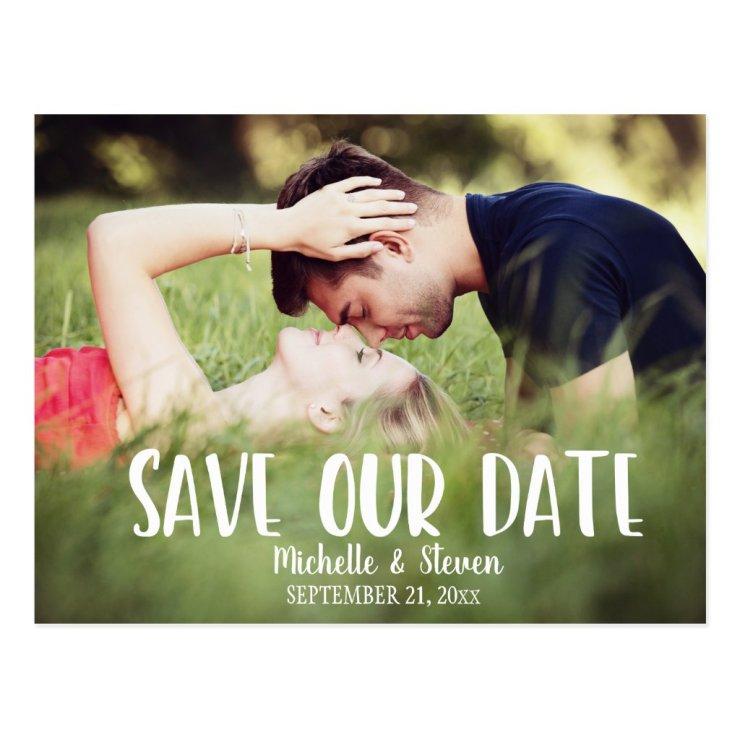 Modern Elegant Save our Date Postcard