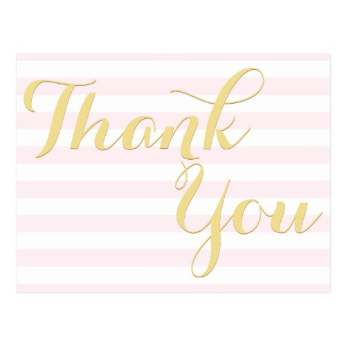 Modern Elegant Wedding Baby Shower Event Thank You Postcard