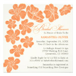 Modern Floating Flowers Bridal Shower Invitation
