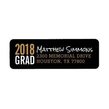 Modern Grad Personalized Return Address Label