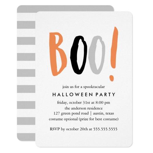 Modern Halloween Celebration Invitation