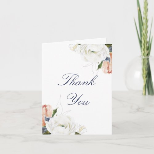 Modern Painted Pretty Floral Bridal Shower Party Thank You Card
