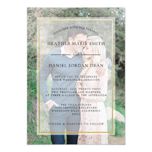 Modern Photo Wedding Invitation