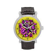 Modern Retro Circles Pattern Watch