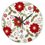 modern rustic Christmas flowers Clocks