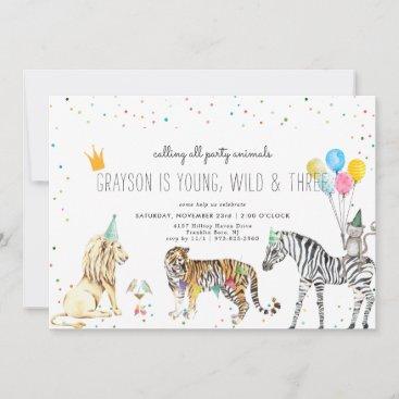 Modern Simple Party Animal Invitation