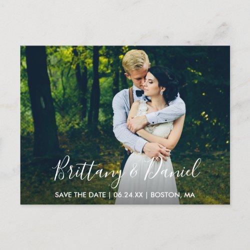 Modern Trendy Names Script Save The Date Postcard