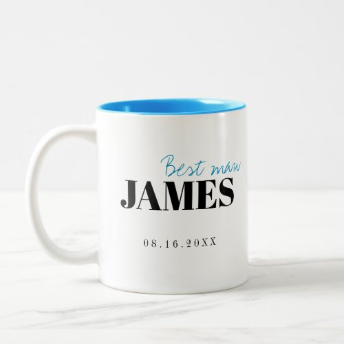 Modern Typography Personalized Best Man Mug