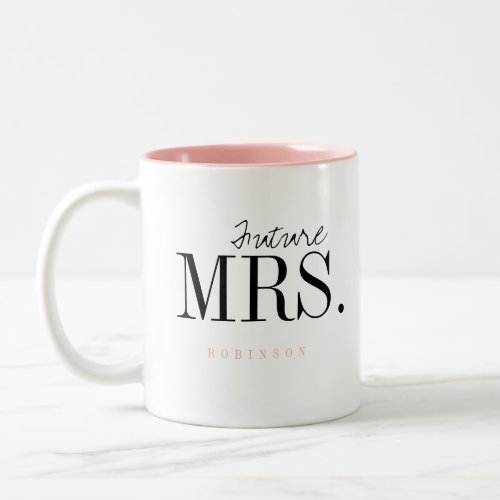 Modern Typography Personalized Future Mrs Mug