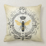 ❤️  Modern vintage french queen bee throw pillow