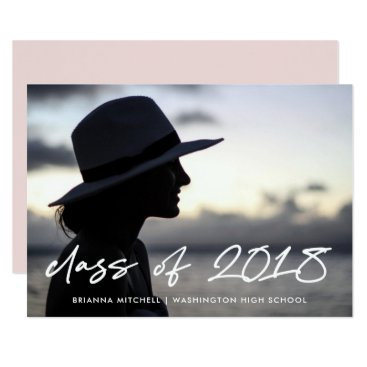 Modern Writing | Class of 2018 Photo Grad Party Card