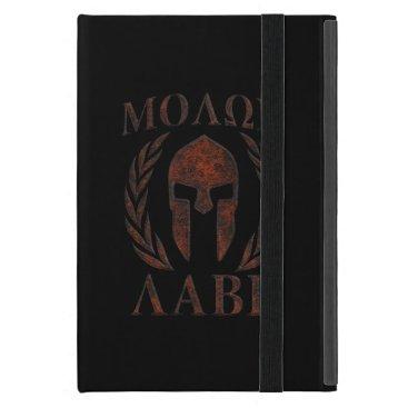 Molon Labe Spartan Warrior Mask Laurels Cast iPad Mini Case