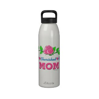 Mom Loved Cherished Adored Drinking Bottles
