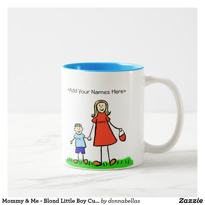 Mommy & Me - Blond Little Boy Custom Mugs