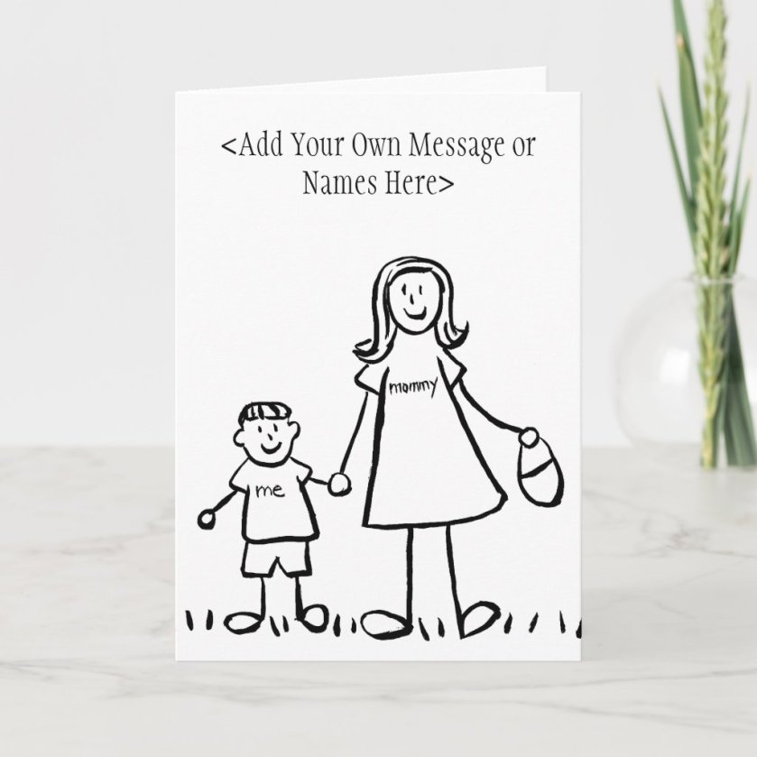 Mommy & Me - Customize Greeting or Note Cards
