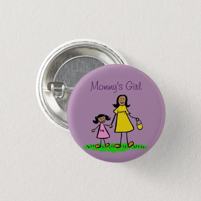 Mommy's Girl Family Art Custom Pendant Buttons