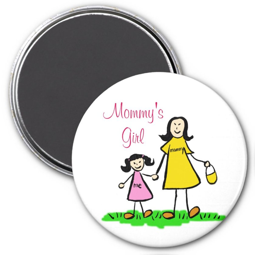 Mommy's Girl Personalized Family Art Magnets