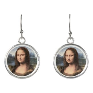 Mona Lisa Portrait Earrings
