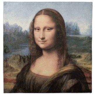 Mona Lisa Portrait / Painting Cloth Napkin