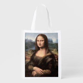 Mona Lisa Portrait / Painting Grocery Bag