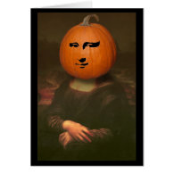 Mona Lisa Pumpkin Greeting Card