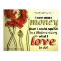 Money Affirmation Postcard