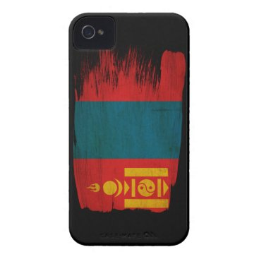 Mongolia Flag iPhone 4 Case