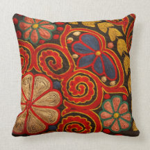 Mongolia pattern throw pillows