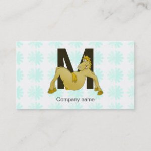 Flexible Business Cards   Templates   Zazzle Monogram M Flexible Pony Personalised Business Card