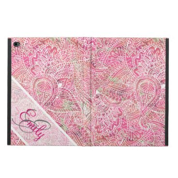 Monogram Pink Tribal Abstract Floral Paisley Powis iPad Air 2 Case