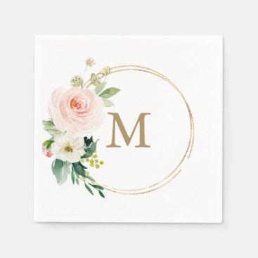 Monogram Wedding Napkin Cocktail Napkin