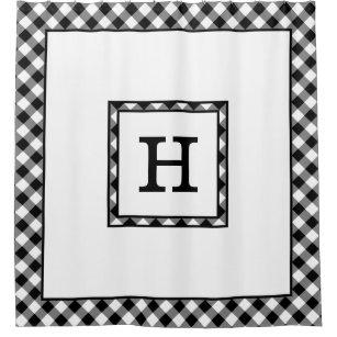 black and white checkered shower