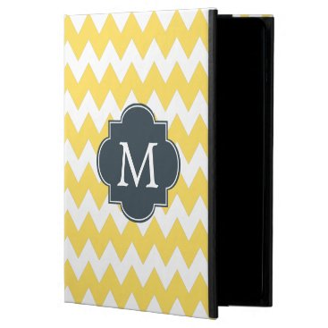 Monogram Yellow, White and Charcoal Chevron Powis iPad Air 2 Case