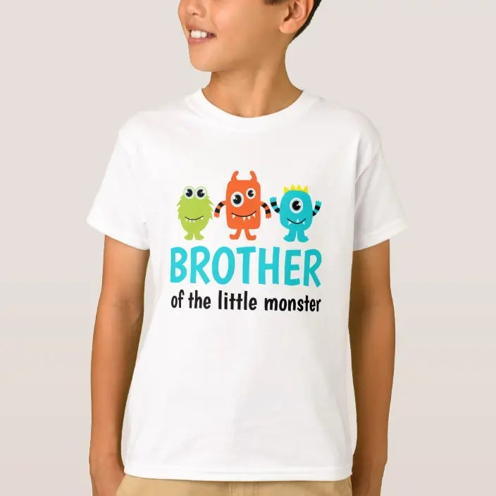 Monster 1st Birthday T Shirt For Brother Zazzle Com