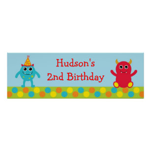 Monster 1st Birthday Party Supplies Zazzle