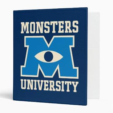Monsters University Blue Logo Binder
