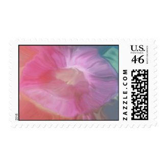 Morning Glory (And Fairies?) Postage stamp