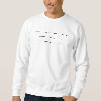 Morse code: Black lives matter. Men's T-shirt. Sweatshirt