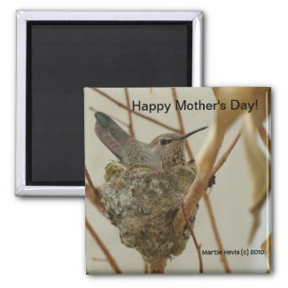 Mother Hummingbird Magnet (Personalize Message) magnet