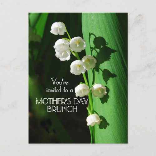 Mother's Day Brunch Invitation Lily of the Valley postcard