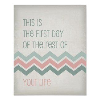 Motivational life quote art typography Chevron Posters
