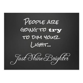 Motivational Shine Brighter Quote