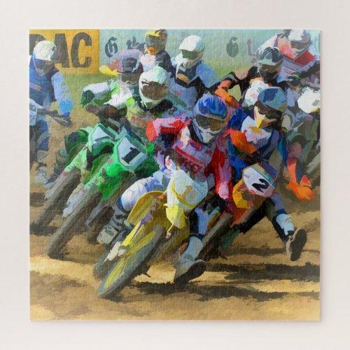 Motocross Race Graphic Art Jigsaw Puzzle