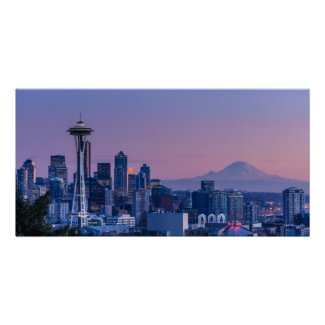Mount Rainier in the background. Print