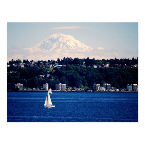 Mount Rainier viewed from Puget Sound Post Card